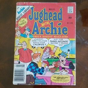 Vtg 89 Jughead with Archie Comic Digest Magazine